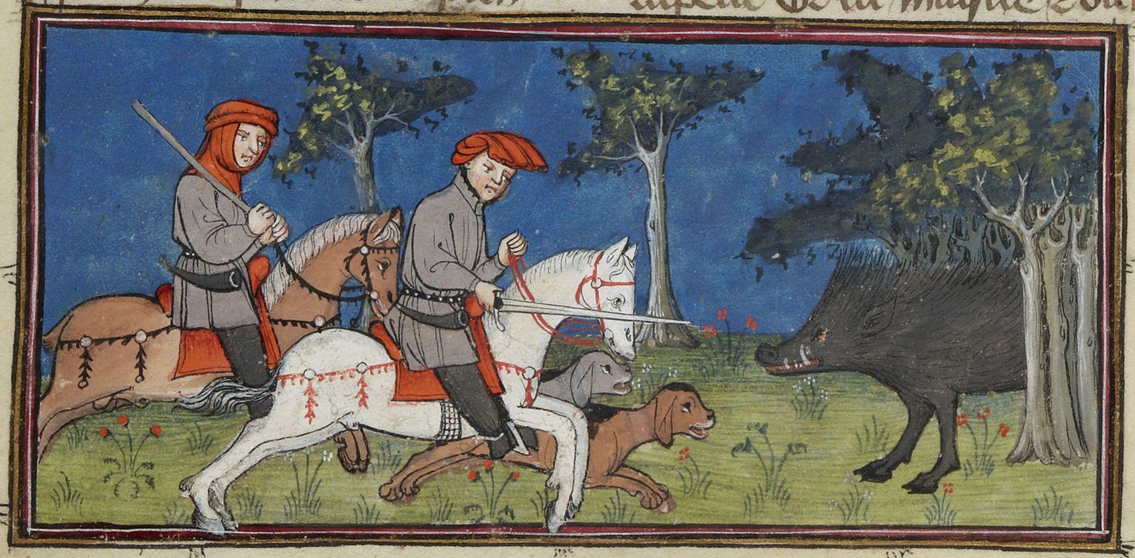 Paris, BnF, fr. 1297, f. 24r (chasser le sanglier).jpg